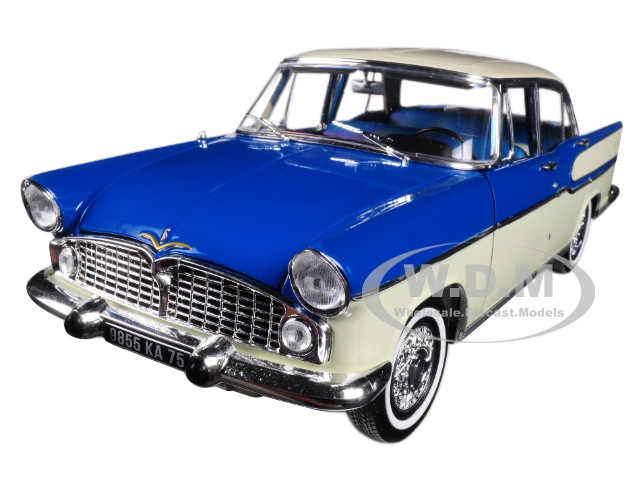 1960 Simca Vedette Chambord Green with China Ivory 1/18 Diecast Model Car Norev 185727