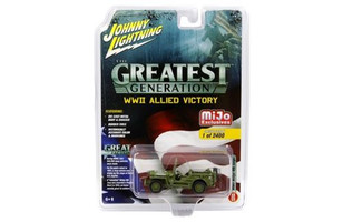 Jeep MB Willys Military Police Limited Edition to 2400 pieces Worldwide The Greatest Generation WWII Allied Victory 1/64 Diecast Model Car Johnny Lightning JLCP7051