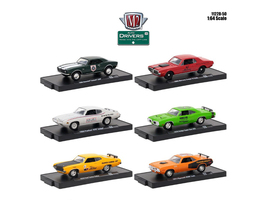 Drivers 6 Cars Set Release 50 In Blister Packs 1/64 Diecast Model Cars M2 Machines 11228-50