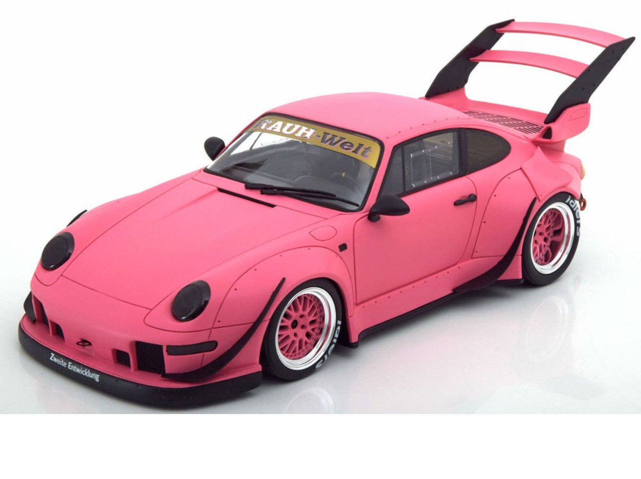Porsche 993 RWB Rotana Matt Pink 1/18 Model Car by GT Spirit for Kyosho