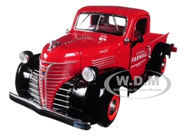 1941 IH Farmall Plymouth Pickup Truck Red 1/24 Diecast Model Speccast ZJD1813