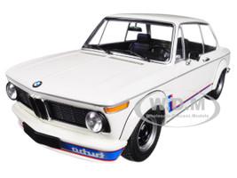 1973 BMW 2002 Turbo White with Stripes 1/18 Diecast Model Car Minichamps 155026200