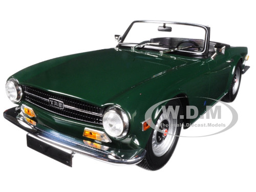 1969 Triumph TR6 Left-hand Drive Convertible Dark Green Limited Edition to 750 pieces Worldwide 1/18 Diecast Model Car Minichamps 155132030