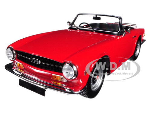 1969 Triumph TR6 Right-hand Drive Convertible Red Limited Edition to 500 pieces Worldwide 1/18 Diecast Model Car Minichamps 155132031