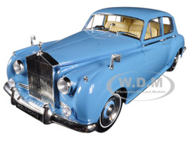 1960 Rolls Royce Silver Cloud II Light Blue 1/18 Diecast Model Car Minichamps 100134904