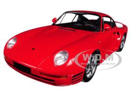 1987 Porsche 959 Red 1/18 Diecast Model Car Minichamps 155066200