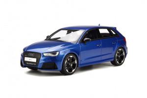 2015 Audi RS3 Blue 1/18 Model Car GT Spirit GT748