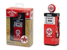 1951 Wayne 505 Gas Pump Caltex Super Gas Pump Replica Vintage Series 4 1/18 Diecast Model Greenlight 14040