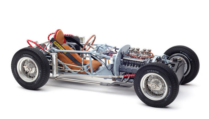 1955 Lancia D50 Rolling Chassis with Base Plate Limited Edition 1000 pieces Worldwide 1/18 Diecast Model CMC 198