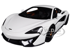 McLaren 570S White with Black Wheels 1/18 Model Car Autoart 76041