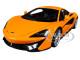 McLaren 570S McLaren Orange with Silver Wheels 1/18 Model Car Autoart 76044