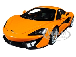 McLaren 570S McLaren Orange with Silver Wheels 1/18 Model Car Autoart 76044