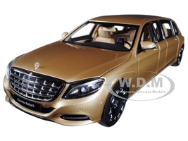 Mercedes Maybach S 600 Pullman Gold 1/18 Model Car Autoart 76298