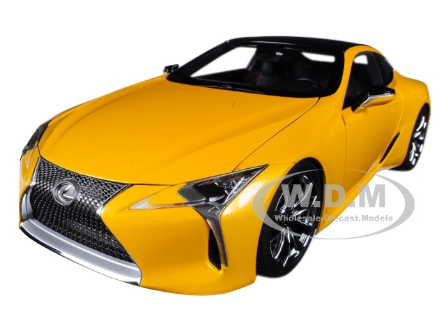 Lexus LC500 Metallic Yellow 1/18 Model Car Autoart 78847