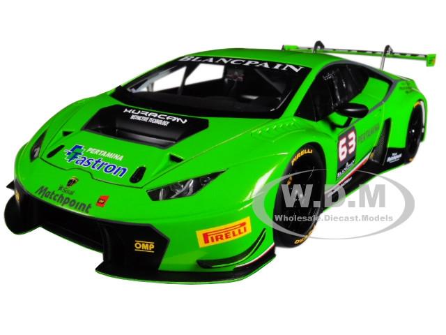 Lamborghini Huracan GT3 Green #63 1/18 Model Car Autoart 81529