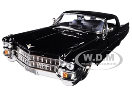 1963 Cadillac Black 1/24 Diecast Model Car Jada 99550
