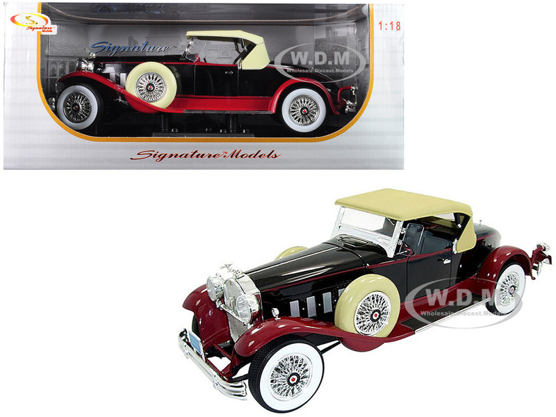 1930 Packard Boattail Speedster Black 1/18 Diecast Model Car Signature Models 18138