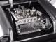 1957 Chevrolet Bel Air Silver with Flames 1/24 Diecast Model Car Jada 99966