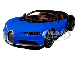 Bugatti Chiron Blue and Dark Blue Metallic 1/18 Diecast Model Car Kyosho C 09548 BBK
