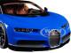 Bugatti Chiron Blue and Dark Blue Metallic 1/18 Diecast Model Car Kyosho C 09548 BBK