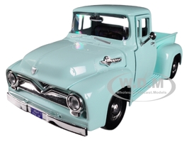 1955 Ford F-100 Pickup Truck Light Green 1/24 Diecast Model Car Motormax 79341