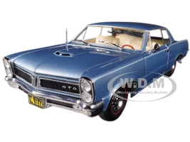 1965 Pontiac GTO Bluemist Slate 1/18 Diecast Model Car Sunstar 1844