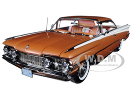 1959 Oldsmobile 98 Hard Top Bronze Mist Polaris White Platinum Edition 1/18 Diecast Car Model Sunstar 5244