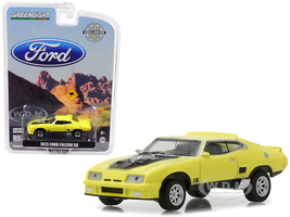 1973 Ford Falcon XB Yellow with Black Stripes Hobby Exclusive 1/64 Diecast Car Model Greenlight 29947
