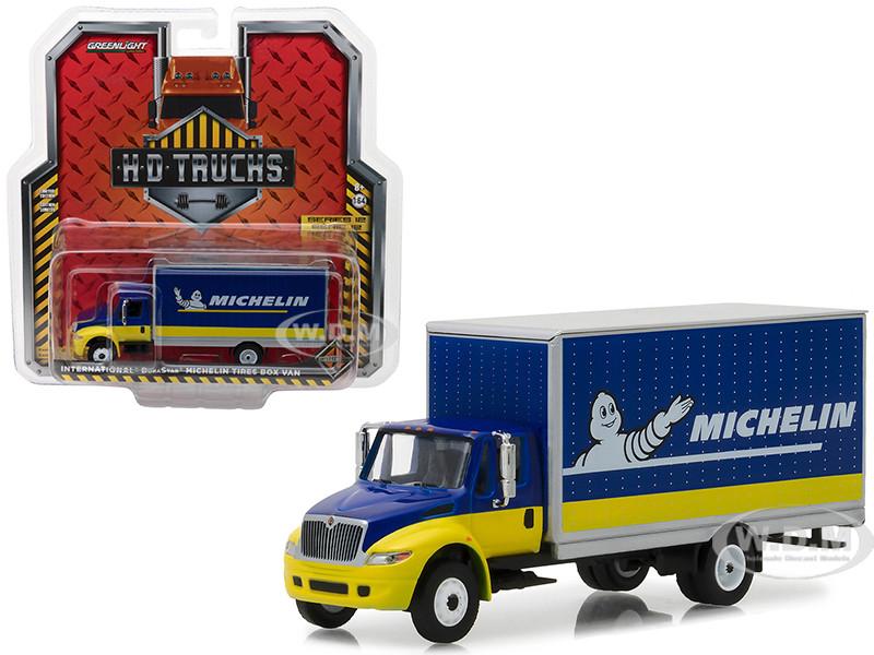 2013 International Durastar Michelin Tires Box Van HD Trucks Series 12 1/64 Diecast Model Greenlight 33120