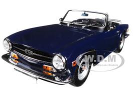 1973 Triumph TR6 Left-hand Drive Convertible Dark Blue Limited Edition 350 pieces Worldwide 1/18 Diecast Model Car Minichamps 155132032
