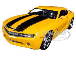 2006 Chevrolet Camaro Concept Bumblebee Yellow from Transformers Movie Hollywood Rides Series 1/24 Diecast Model Car Jada Metals 99382