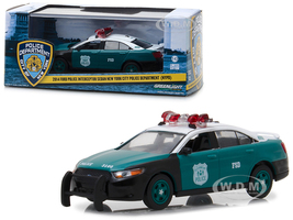 2014 Ford Police Interceptor Sedan New York City Police Department NYPD Vintage Show Vehicle 1/43 Diecast Model Car Greenlight 86094