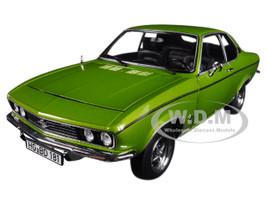 1975 Opel Manta Berlinetta 1900 Lemon Green Metallic 1/18 Diecast Model Car Norev 183635