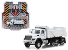 2018 International WorkStar Construction Dump Truck White S.D. Trucks Series 4 1/64 Diecast Model Greenlight 45040 A