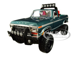 1979 Ford F-150 Custom Pickup Truck Off Road Green 1/24 Diecast Model Motormax 79138