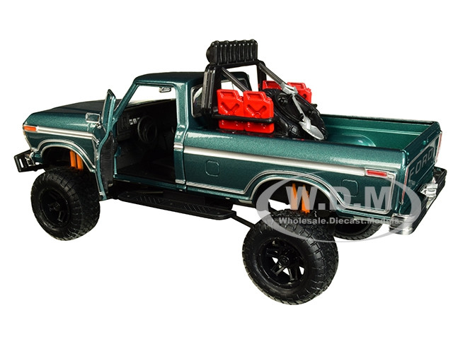 Ford F-150 Custom Off Road 1979 Green 1:24 Model MOTORMAX
