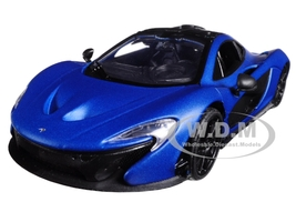 McLaren P1 Matt Blue 1/24 Diecast Model Car Motormax 79508