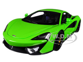 McLaren 570S Mantis Green Black Wheels 1/18 Model Car Autoart 76042