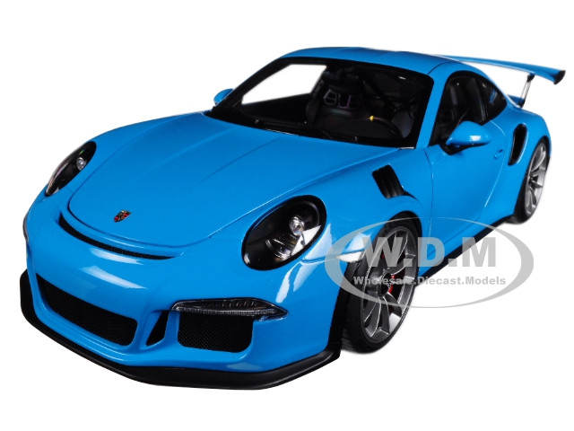 Porsche 911 (991) GT3 RS Miami Blue with Dark Grey Wheels 1/18 Model Car by  Autoart