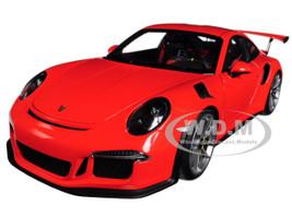 Porsche 911 991 GT3 RS Lava Orange Dark Grey Wheels 1/18 Model Car Autoart 78168