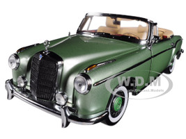 1958 Mercedes Benz 220 SE Cabriolet Open Convertible Light Green 1/18 Diecast Model Car Sunstar 3557