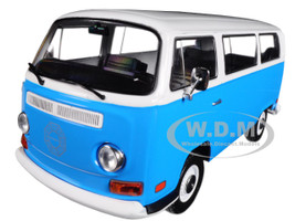 1971 Volkswagen Type 2 T2B Dharma Van Blue White Top Lost 2004-2010 TV Series 1/24 Diecast Model Greenlight 84033