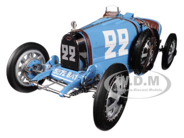 Bugatti T35 #22 National Color Project Grand Prix France Limited Edition 1000 pieces Worldwide 1/18 Diecast Model Car CMC 100 B004