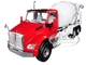 Kenworth T880 McNeilus Standard Mixer Red Cab White Body 1/34 Diecast Model First Gear 10-4130