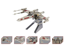 Elite X-Wing Fighter Red Five Star Wars Episode IV A New Hope Movie 1977 Diecast Model Hotwheels CMC91