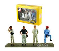 Drivers Set 4 Figurines 1/43 Diecast Model Cars Lemans Miniatures 43001M