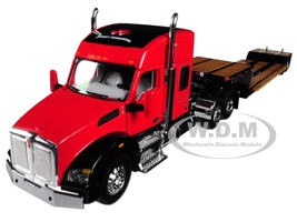 Massey Ferguson Kenworth T880 Sleeper Cab Fontaine Renegade Lowboy Trailer 1/64 Diecast Model Speccast 30556