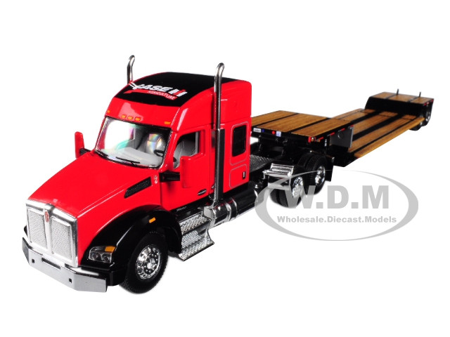 Case IH Kenworth T880 Sleeper Cab Fontaine Renegade Lowboy Trailer 1/64 Diecast Model Speccast ZJD1809