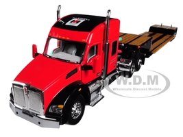 IH Farmall Kenworth T880 Sleeper Cab Fontaine Renegade Lowboy Trailer 1/64 Diecast Model Speccast ZJD1810