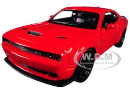 2018 Dodge Challenger SRT Hellcat Widebody Red 1/24 Diecast Model Car Motormax 79350